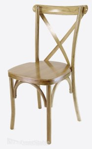 Natural X-Back Chair