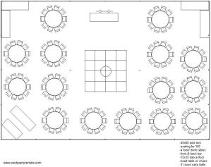40 x 60 Tent Layout & Seating