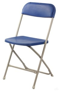 Blue Folding Chair - Chair Rental