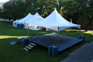 Staging with an Awning - Party Rentals