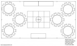 20 x 40 Tent Layout