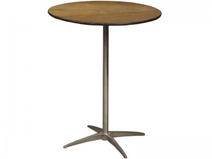 30 Inch Round High Boy Table Rental
