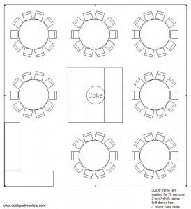 30 x 30 Tent Layout