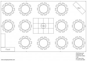 30 x 50 Tent Layout