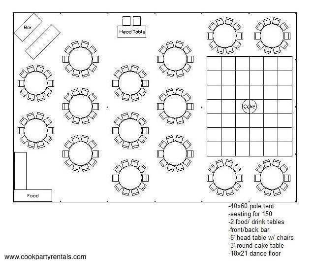 Seating Amp Layouts Cook Party Rentals Cook Party Rentals