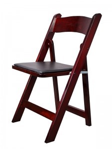 Mahogany Resin Padded Chair - Party Rentals